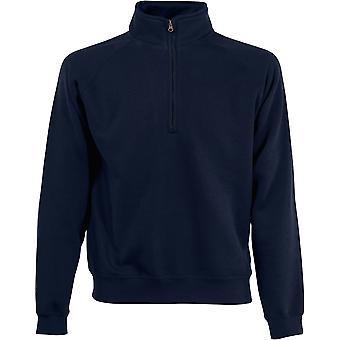 Fruit Of The Loom - Premium 70/30 Zip Neck Mens Sweatshirt - Sports - Workwear - Gym