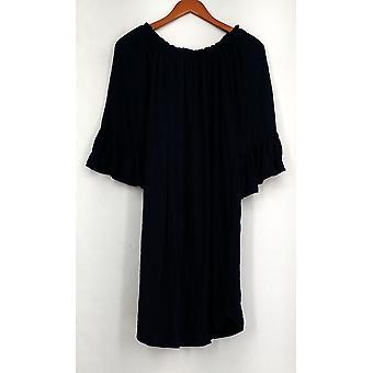 OSO Casuals Kleid aus der Schulter Poncho Marine blau Frauen A432363