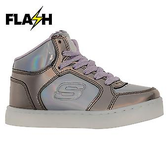 Skechers Girls Energy Light Mid Top Trainer Schuhe Sneakers Kinder