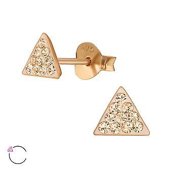 Triangle crystal from Swarovski® - 925 Sterling Silver Ear Studs - W39044X