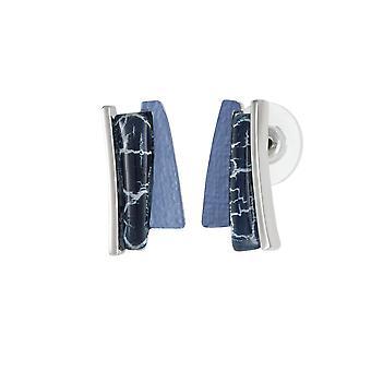 Ewige Sammlung Ausdruck blau Multi Silber Ton Ohrstecker durchbohrt Ohrringe