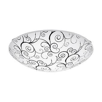 Eglo MARGITTA Glass Designed Ceiling Wall Steel Plate Light