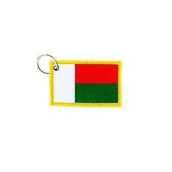 Porte Cle Cles Clef Brode Patch Ecusson Badge Drapeau Madagascar Malgaches