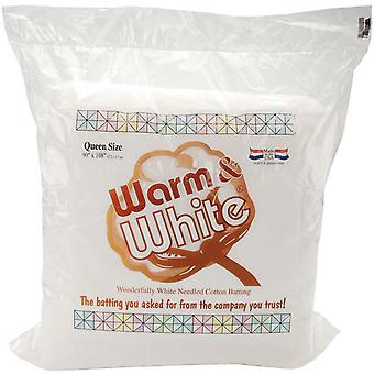 Warm & White Cotton Batting Queen Size 90