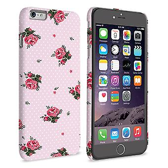 Caseflex iPhone 6 e 6s Plus Vintage Rose Polka Dot Wallpaper custodia rigida – rosa