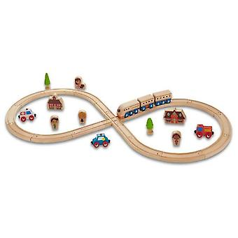 EverEarth Circuit Train 8 (Toys , Vehicles And Tracks , Parking And Circuits)