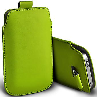 ( Green ) Pouch Case For Yezz Monaco 4.7 case Premium Stylish Faux Leather Pull Tab Pouch Skin Case Various Colours To Choose FromYezz Monaco 4.7 Cover By i-Tronixs