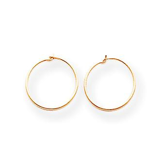 14k Yellow Gold Polished Small Endless Hoop Earrings - .2 Grams - Measures 10x10mm