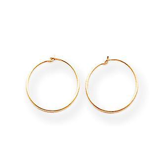 14 k guld små oändliga Hoop Örhängen -.2 gram - åtgärder 10x10mm