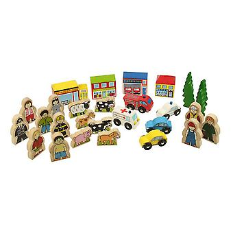 Bigjigs Wooden Railway Trackside Accessory Set