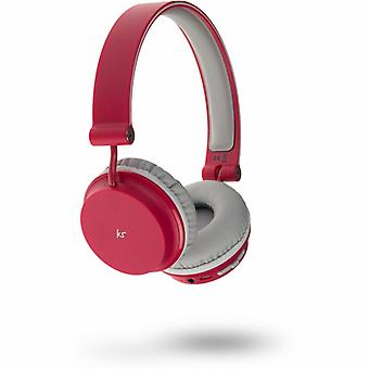 KITSOUND Headphone Metro Red On-Ear Wireless Mic