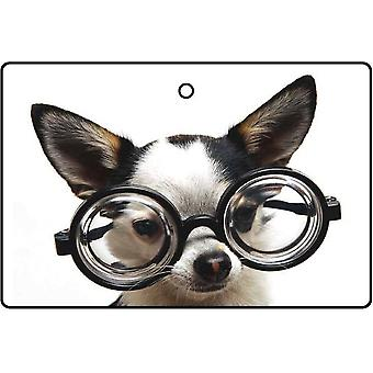 Refrogerador de ar do carro cachorro nerd