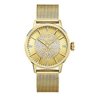 JBW diamond mesh stainless steel watch BELLE - gold