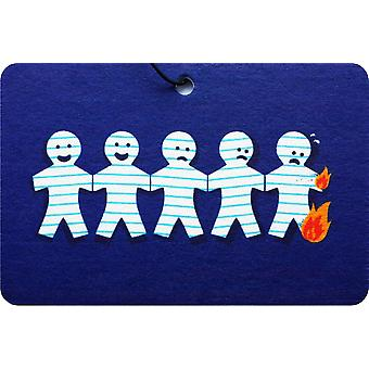 Burning Paper Chain People Car Air Freshener
