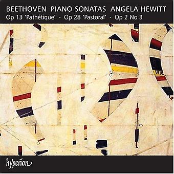 L.V. Beethoven - Beethoven: Piano Sonatas Opus 2/3, importación USA Op. 13 & Op. 28 [CD]