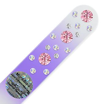 Glass nail file with Swarovski crystals CNC-M1-6
