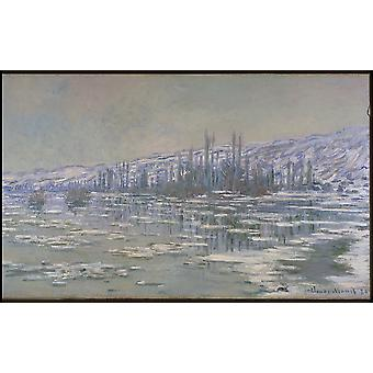 Claude Monet - The Break up von Eis Poster Print Giclee