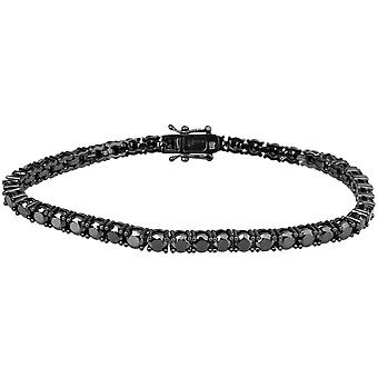 Iced out bling high quality strap - FULL BLACK 1 ROW 4mm