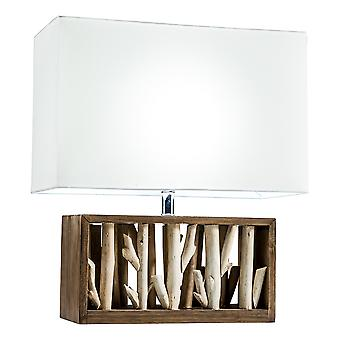 Modern Home Nautical Driftwood Wood Box Table Lamp - Large