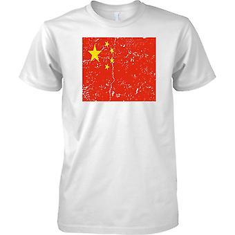 China apenó Grunge efecto bandera diseño - niños T Shirt