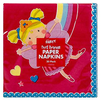 20 Girls Boys Childrens Napkins Princess Birthday Party Disco Tableware Catering
