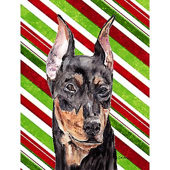 German Pinscher Candy Cane Christmas Flag Canvas House Size