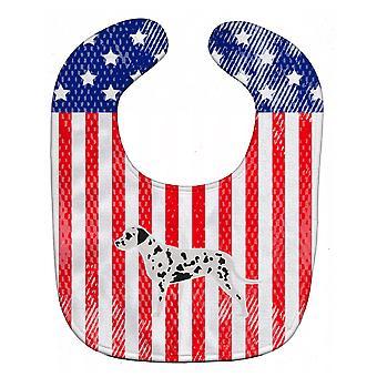 Carolines Schätze BB3283BIB USA patriotischen dalmatinischen Baby Lätzchen