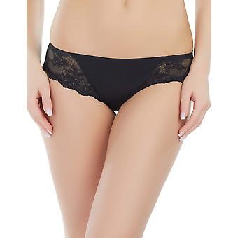 Marc and Andre S4-1192 Women's Seamless Black Knickers Panty Brief