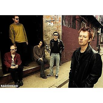 Radiohead callejón grupo callejón cartel Poster Print