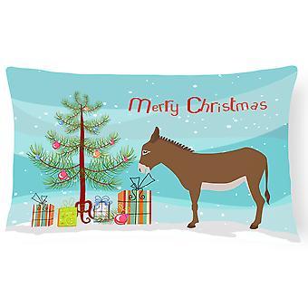 Cotentin burro Natal lona tecido travesseiro decorativo