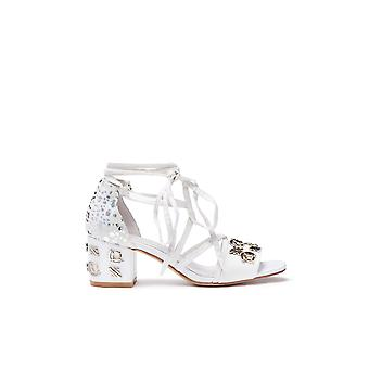 E8 by Miista Embellished Lace Up Block Heel