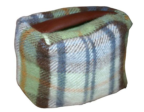 Autumn Check Rectangular Pure New Wool Door Stop