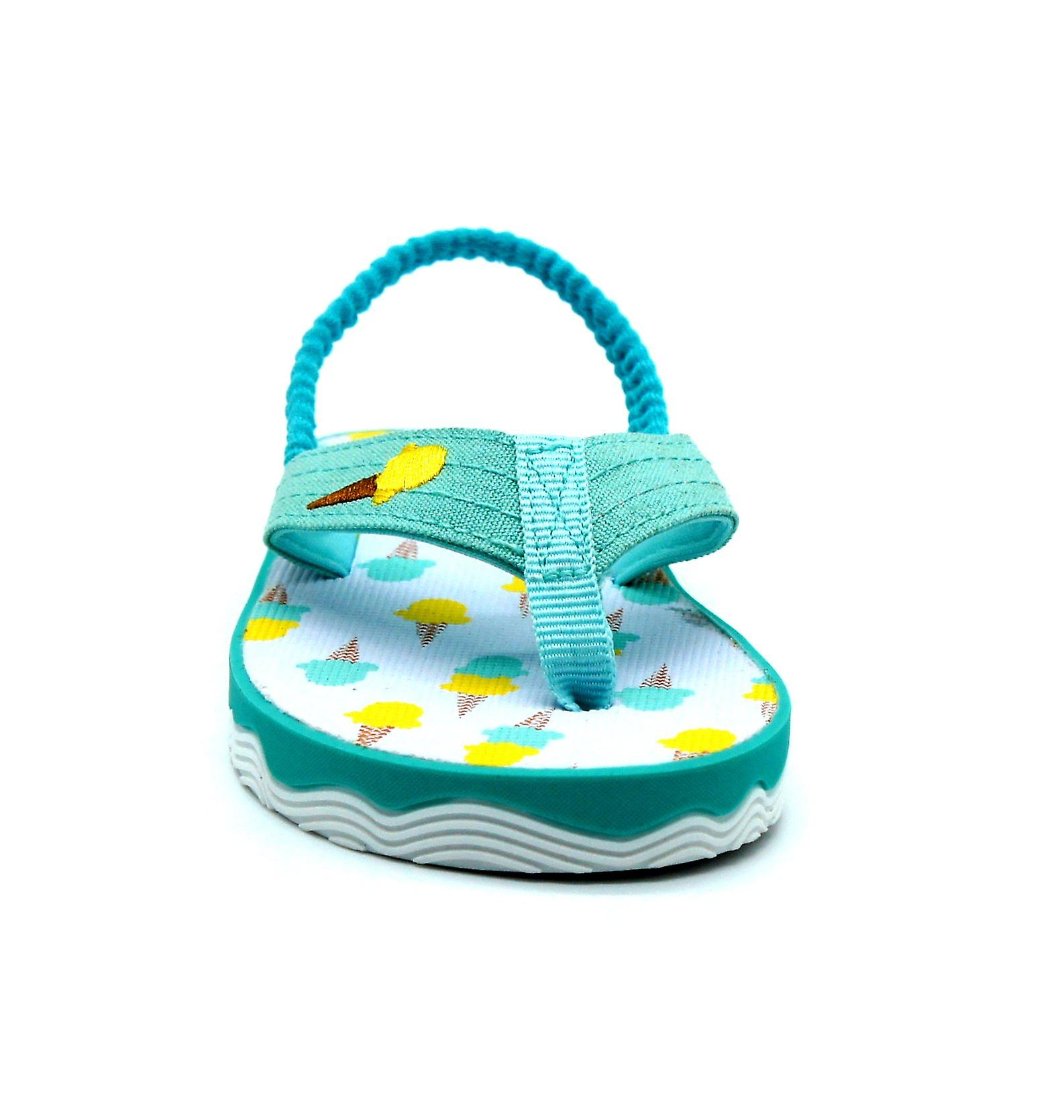 Atlantis Shoes Kids Unisex Girls & Boys Supportive Cushioned Comfortable Sandals Flip Flops Ice Cream Lover Green
