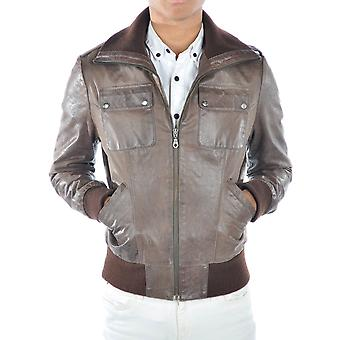 Connor Distressed Mens Leather Jacket