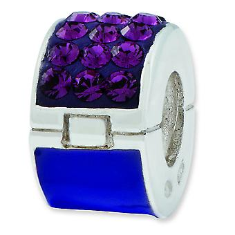 Sterling Silver Reflections Purple Crystal Bead Charm