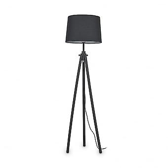 Ideal Lux York Tripod Floor Standing Tall Lamp, Black Wood