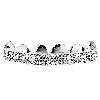 One Size Fits All Bling Grillz - MICRO PAVE TOP - Silber