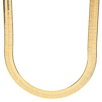 Ha ghiacciato fuori bling catena hip-hop di HERRING BONE - oro 8 mm