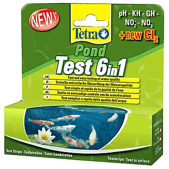 Tetra Pond Test 6 In 1 (Fish , Ponds , pH & Other Substance Test Strips)
