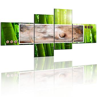 Artgeist Canvas Print Abstraction and bamboo (Decoration , Pictures / Frames)
