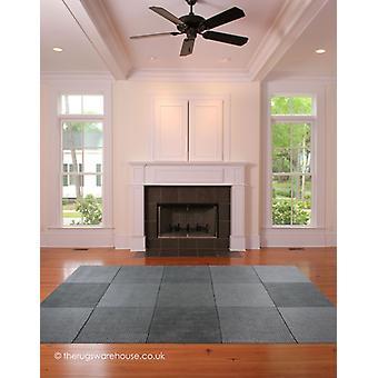 Cuadrados de lana gris alfombra