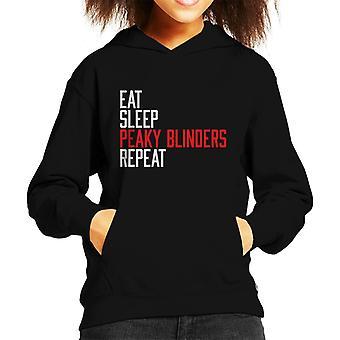 Eat Sleep Peaky Blinders Repeat Kid's Hooded Sweatshirt