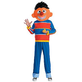 Ernie Sesame Street Deluxe Licensed Teen Men Costume M