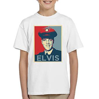 Elvis Presley Inspired Art Kid's T-Shirt