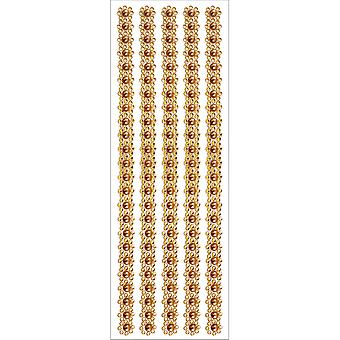 MultiCraft Jewel Border Stickers -Gold Pearl Floral SS222-D
