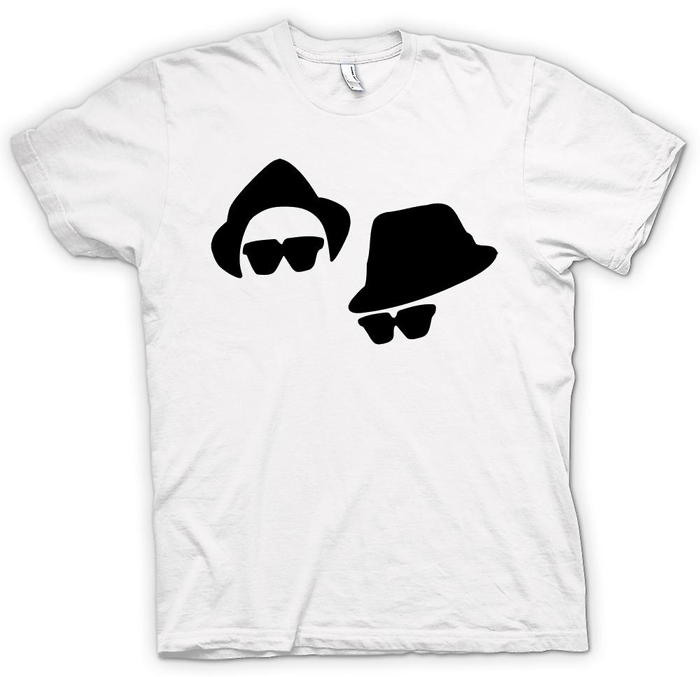 Mens T-shirt-Blues Brothers Gesichter