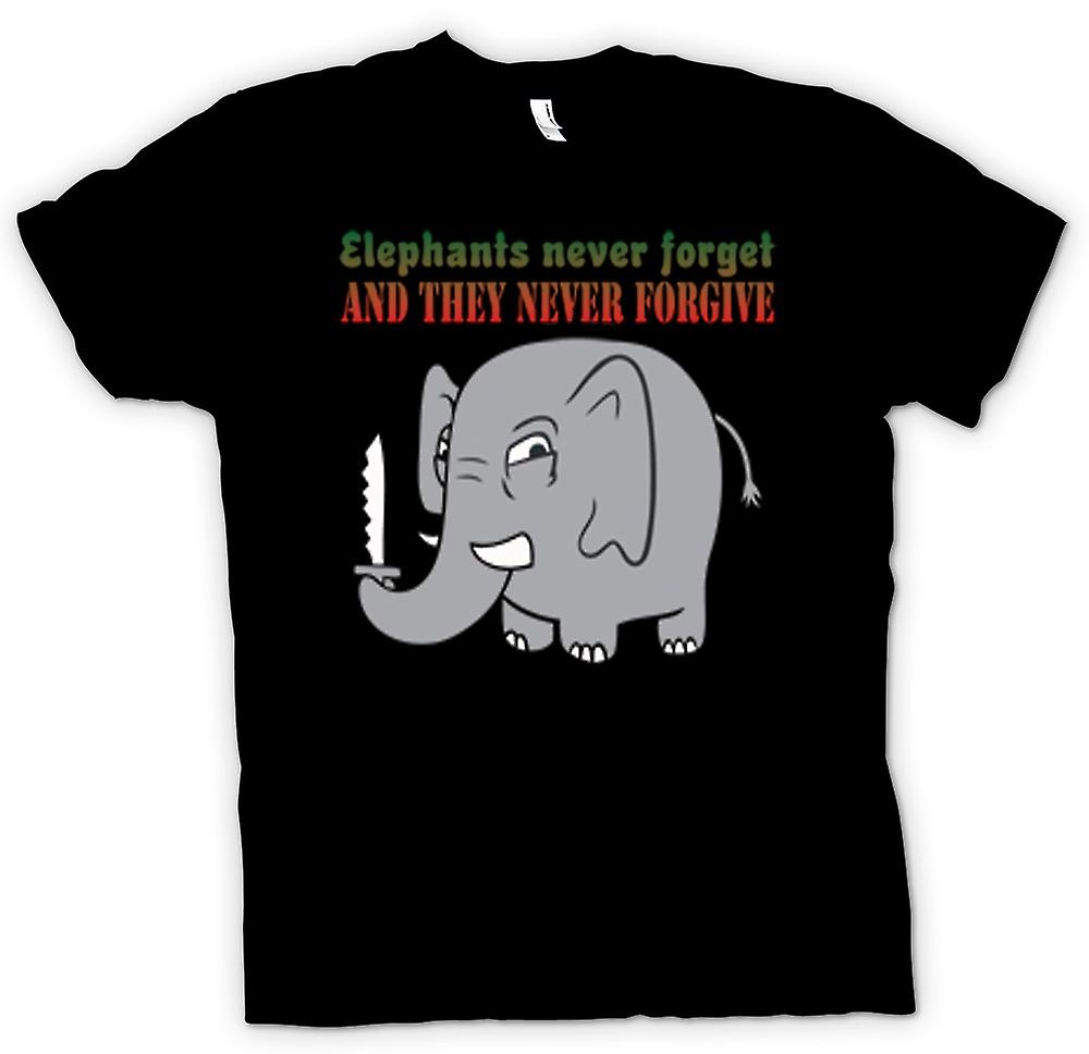 Kids T-shirt - Elephants never forget & they never forgive