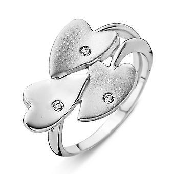 Orphelia plata 925 anillo X satén circonio ZR-3746