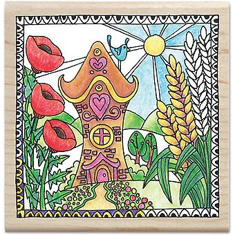 Color Me Mounted Rubber Stamp 3.5