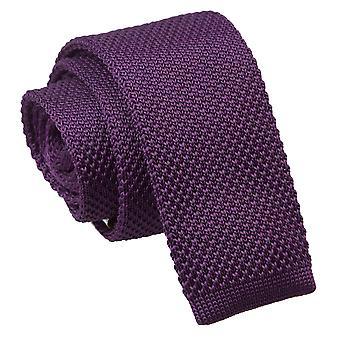 Cadbury lila gestrickt schmaler Krawatte